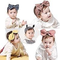 Emfay 赤ちゃん ベビー ヘアバンド ヘアリボン 髪飾り 髪留め カチューシャ ヘアアクセサリー 出産祝い 誕生日 初節句 5点セット