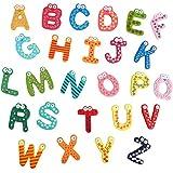 ZooooM 木製 アルファベット マグネット セット 可愛い 文字 英語 知育 教育 学校 子供 ジュニア (カラー:ランダム) ZM-PETAABC