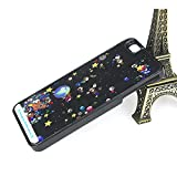 「YUANSHOP1」 iphone 6 ケース 宇宙 星ラメ グリッターケース ブラック スマホケース スマホカバー アイフォンケース (iPhone6)