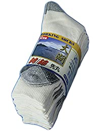 (C830) 靴下 メンズ 軍足 柔らかい高級純綿糸100% 純綿先丸ソックス 12足組 肌触りが良く通気性バツグン つま先カカト補強 24~27cm