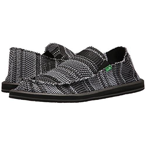 [サヌーク] Sanuk メンズ Yew-Knit ローファー Black/White US8(26cm) - D - Medium [並行輸入品]