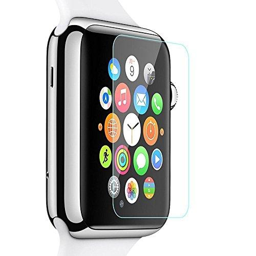 RoiCiel Apple Watch 38mm液晶保護強化ガラスフィルム アップルウォッチ 硬度9H 超薄0.15mm 2.5D ラウンドエッジ加工 (Apple Watch38mm)