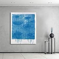 Wangjingxi キャンバスアート絵画抽象デビッド・ホックニー雨絵壁家の装飾プリント用リビングルームなしフレーム絵画45×60センチ