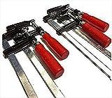 F型 クランプ 50mm × 200mm 固定 工具 木材工作 接着 作業用 4本 セット