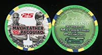 $ 25MGM Grand Mayweather vs pacauiao May 22015UNCIRCULATEDラスベガスカジノチップ