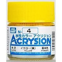 【水性アクリル樹脂塗料】新水性カラー アクリジョンイエロー(黄) 光沢 N4