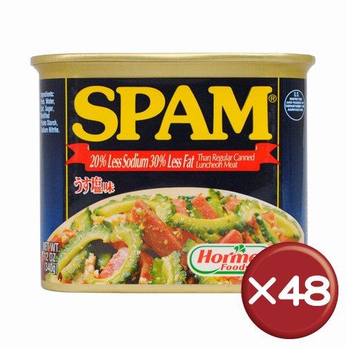うす塩スパム(SPAM)・ポークランチョンミート 48缶セット