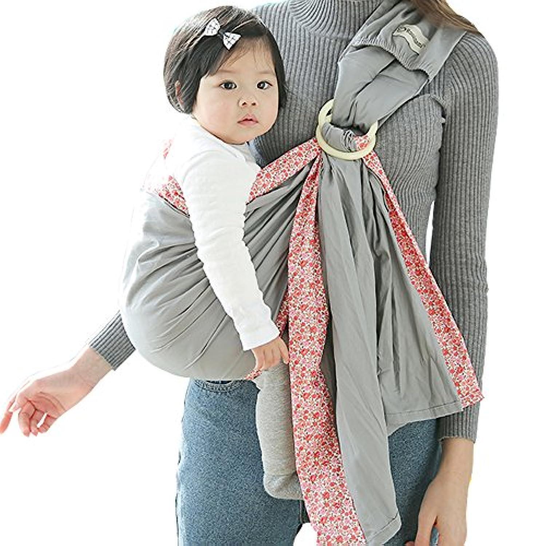 WANYI スリング ベビー スリング 新生児 多機能 抱っこひも 新生児 ベビーキャリア 軽い 軽量 新生児から3歳頃ま で使えるベビースリング 出産祝いにも, 抱っこひも新生児 (グレー)