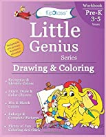 Drawing & Coloring: Pre-Kindergarten Workbook: Little Genius Series: Teaches Color Recognition, Tracing & Drawing, Picture Enlargement & Completion with Multiple Fun Coloring Activities