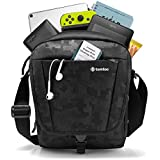 tomtoc Functional Cross-Body Messenger Bag with Large Travel Storage for 2018 New iPad Pro 11-inch, with Shoulder Strap and Accessory Pockets, RFID Safe for Credit Card, Waterproof