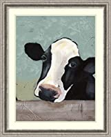 アートフレーム印刷' Holstein Cow III ' by Jade Reynolds Size: 24 x 30 (Approx), Matted グレー 3917766