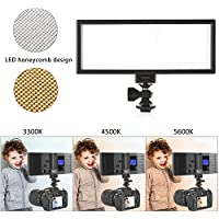 Viltrox L132T プロ 超薄型 LED ビデオライト 写真 フィルライト 輝度とデュアル色温度 調整可能 最大輝度 1065LM 3300K-5600K CRI95+ キヤノン ニコン ソニー パナソニック デジタル 一眼レフ カメラ ビデオカメラ用
