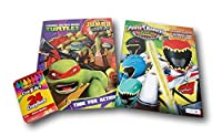 Power Rangers Dino Charge and Teenage Mutant Ninja Turtles Jumbo Colouring and Activity Book Pack of 2