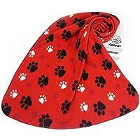 """Allisandro スーパーソフトでふわふわプレミアム犬用ブランケット かわいいフランネルフリースブランケット 子犬猫用 39x31"""" レッド LFzongzhua"""