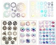ShanTrip Resin Sealed Illustration Sheet Sacred Geometry Hologram Set of 5