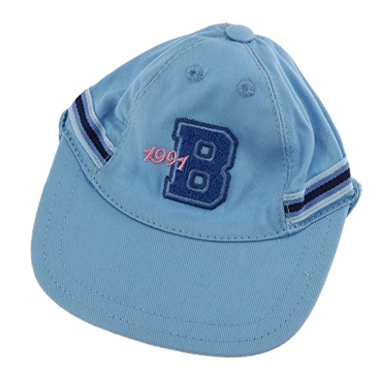 Baoblaze ファッション 人形アクセサリー ベースボール キャップ 帽子 43cmのzapfドール人形用 服アクセサリー 2色 - ブルー