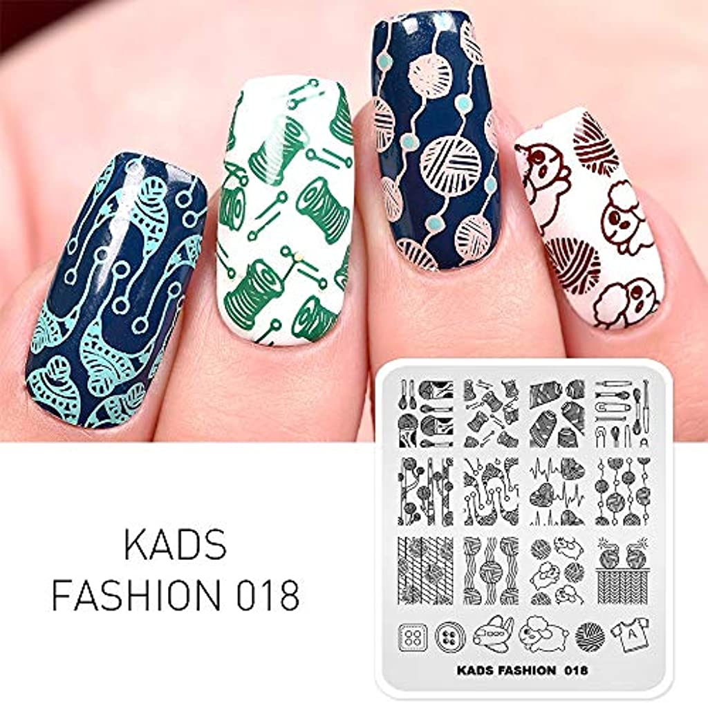 すずめ役立つ現実KADS ネイルスタンププレート ネイルステンシル ネイルイメージプレート ファッションスタイル … (FA018)