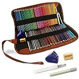 【塗り絵セット】 72本水彩色鉛筆 水筆ペン/鉛筆ホルダー/鉛筆削り/消しゴム 筆箱梱包 初心者向けのカラーペンセット SS-SP7201JP