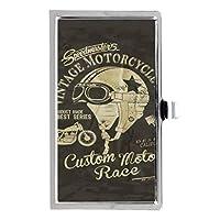 ビンテージ・オートバイステンレス鋼ポケットのビジネス名のクレジットカードケースボックス財布