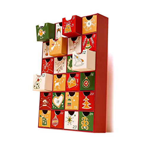 アドベントカレンダー メリークリスマス ボックスカレンダー クリスマス限定 ペーパーボックス