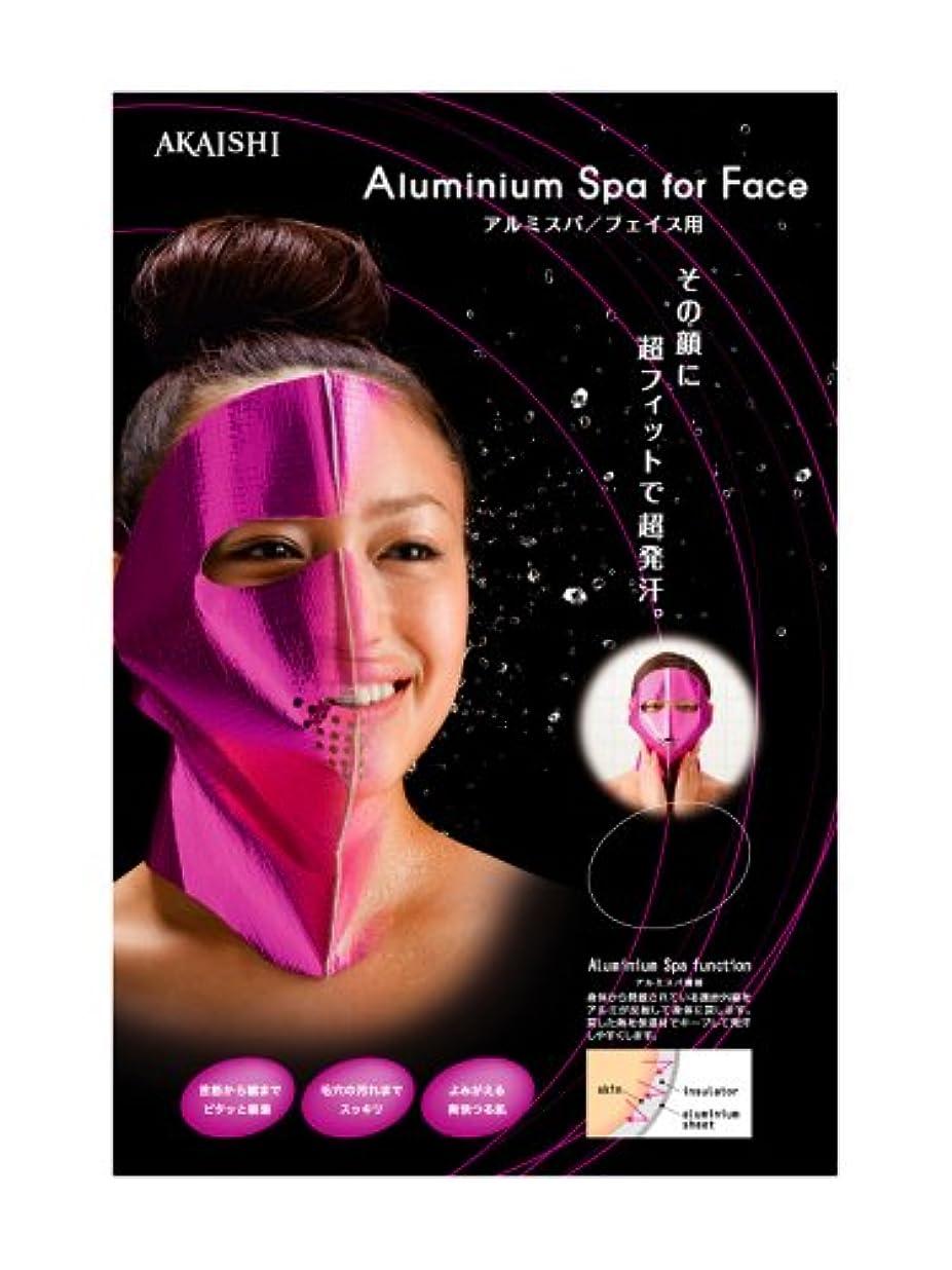吸収する整然とした感じるAKAISHI アルミサウナ マスク フェイス用