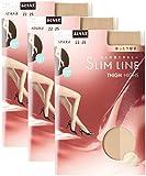 (アツギ)ATSUGI ストッキング SLIM LINE (スリムライン) 厚手 ふともも丈ストッキング クチゴムゆったり 〈3足組〉 FT5550 320 フレッシュベージュ 22~~25cm~