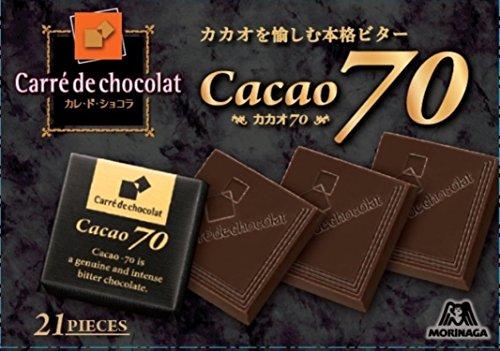森永製菓 カレ・ド・ショコラ<カカオ70></p> 21枚×6箱
