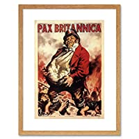 War WW2 Pax Britannica Fascist Italy Vintage Advert Framed Wall Art Print 戦争ファシストイタリアビンテージ広告壁