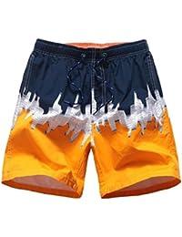 aicessess Men Baggy Basic Cotton Bechwear Summer Casual Outwear Beach Holiday Shorts