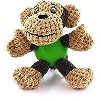 POBO ペット用おもちゃ 犬用おもちゃ 歯ぎ清潔  ストレス解消  丈夫  発声装置搭載  犬玩具  モンキーさん