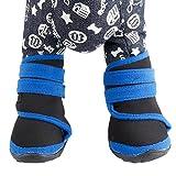 (イーエフイー)EFE 犬用靴 雨靴 防水 ドッグシューズ  滑り止め 前後4足セット全2色 小、中、大型犬対応 ブルー L