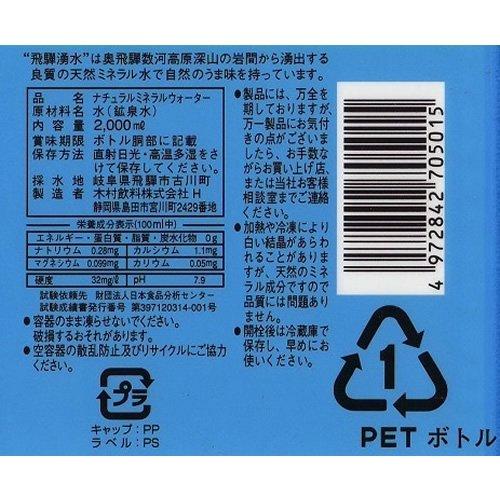 木村飲料 飛騨湧水 ペット 2Lx6本