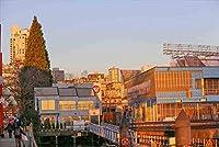 【カナダの風景/バンクバーのポストカード】ノースバンクーバーの夕日葉書ハガキ photo by MIRO