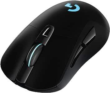 Logicool G ゲーミングマウス ワイヤレス G703d ブラック LIGHTSPEED 無線 エルゴノミクス ゲームマウス LIGHTSYNC RGB POWERPLAY ワイヤレス充電 G703 国内正規品 2年間メーカー保証