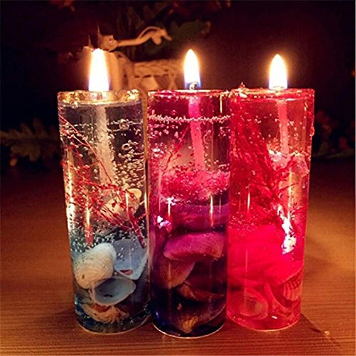 カセット海港厳密にinverlee 1pcアロマセラピーSmokelessキャンドルオーシャンシェルValentines香りつきJelly Candle Make Yourバレンタインの日More Romantic