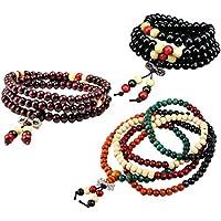 ULTNICE Prayer Beads Bracelet Meditation Buddhist Bracelet Wooden Chain Bracelet 3pcs