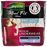 Depend Adult Care Underwear for Females L, 8ct