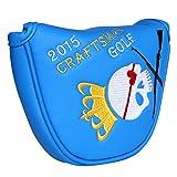 CRAFTSMAN(クラフツマン)スカルキングシリーズ ゴルフヘッドカバー パターカバー マレット用 ブルー