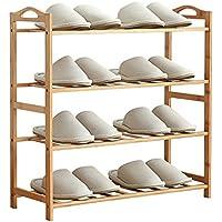 YNN ホームナチュラル竹木製靴ラック3段、4段、5段 (サイズ さいず : 68*26*70cm)