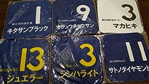 JRA 来場ポイントキャンペーン オリジナルミニタオル 6枚セット キタサンブラック サトノダイヤモンド マカヒキ ジュエラー シンハライト他です。