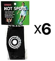 一意スポーツサッカーホットスポットShoe Lace cover-ball Sweet Spotバンド6パック