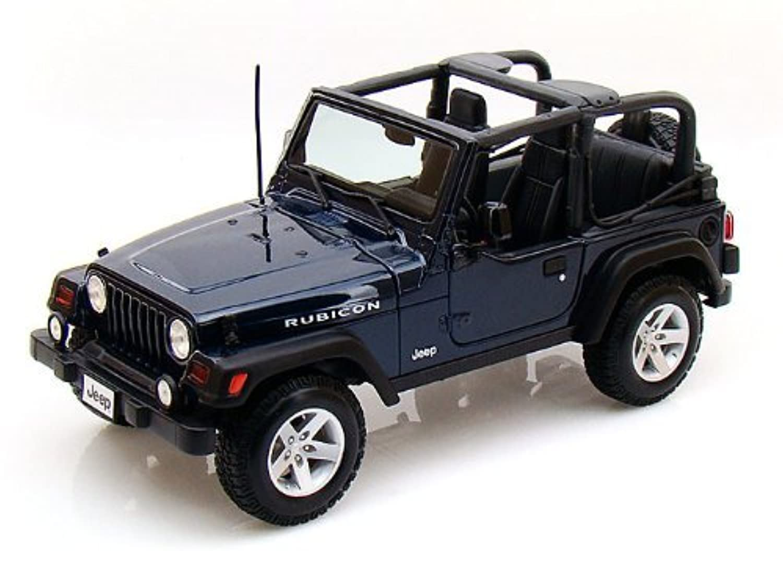 Maisto (マイスト) Jeep (ジープ) Wrangler Rubicon 1/18 Blue MA31663-BL ミニカー ダイキャスト 自動車 (並行輸入)