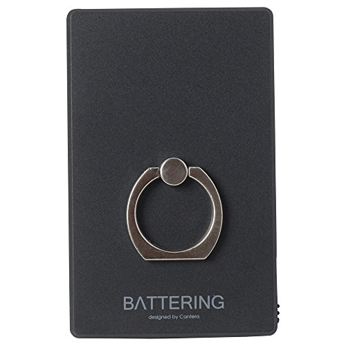 CANTERA CK002 BATTERING バッテリング モバイルバッテリー 充電器 CK002 黒 ブラック (コネクタを反転させるだけで iPhone も android も両方充電できる奇跡のモバイルバッテリー) Lightning microUSB