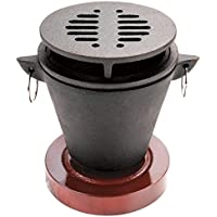 Chef-Master 90206 Cast Iron Mini Hibachi Grill, Black
