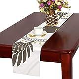 GGSXD テーブルランナー おかしい 牛 クロス 食卓カバー 麻綿製 欧米 おしゃれ 16 Inch X 72 Inch (40cm X 182cm) キッチン ダイニング ホーム デコレーション モダン リビング 洗える