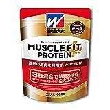 ウイダー マッスルフィットプロテインプラス カフェオレ味 360g (約18回分) ホエイ・カゼイン・大豆の3種混合プロテイン 特許成分EMR配合