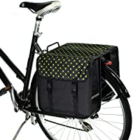 BikyBag Classic - 自転車用ダブル・パニエ (グリーンポルカドット)