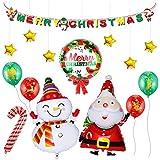 Funpa クリスマス 風船セット バルーン 店 パーティー 部屋 デコレーション 豪華セット 可愛い カラフル