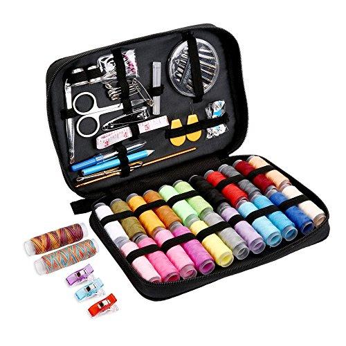 裁縫セット Jktownポータブルソーイングセット 24種カラー鮮やかな縫い糸 100個携帯式高質量ミシンアクセサリー プロ裁縫道具 家庭用 大人用 旅行用 持ち運び