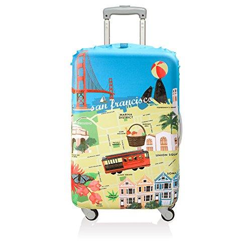 (ローキー) LOQI スーツケース キャリーバック カバー ラッゲージカバー08.【URBAN】SanFrancisco【Mサイズ】